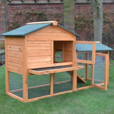 Bunny House Rabbit Hutch and Run - PreOrder for Late December