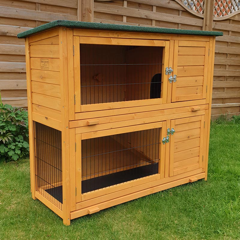 RHL Large Rabbit Hutch and Run with FREE COVER
